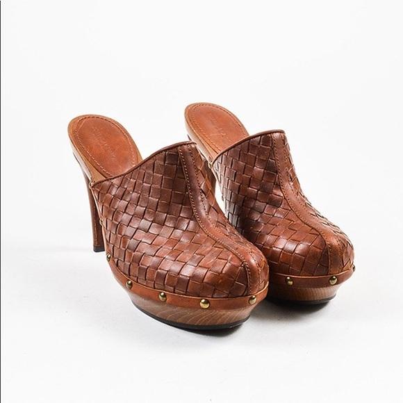 outlet store online Bottega Veneta Leather Intrecciato Clogs 2015 sale online sale 2014 sale buy buy cheap cheap PIFO2H5wnZ